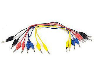 SE-7123 - Banana Plug Cord (30 cm Set of 8)